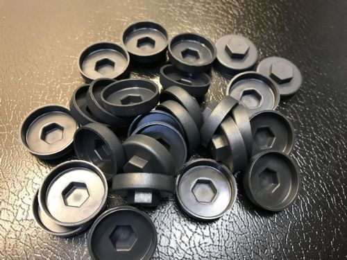 1000no. Anthracite 19mm Colour Cap (Push On Colour Cap)